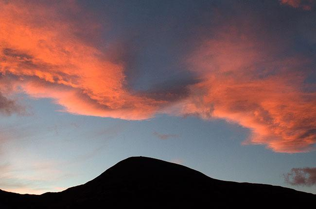 Sunrise over Croagh Patrick