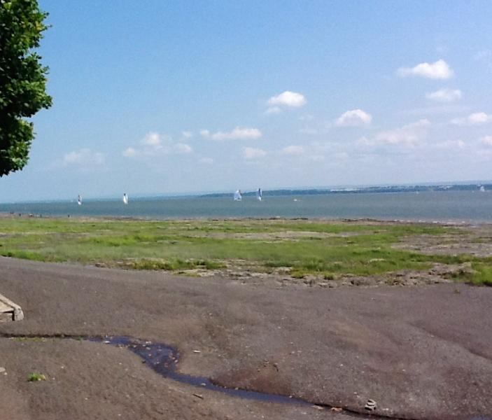 St-Lawrence river view. Just across the street you can acces to the beach and take a long walk....