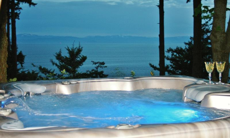 Ocean view hot tub