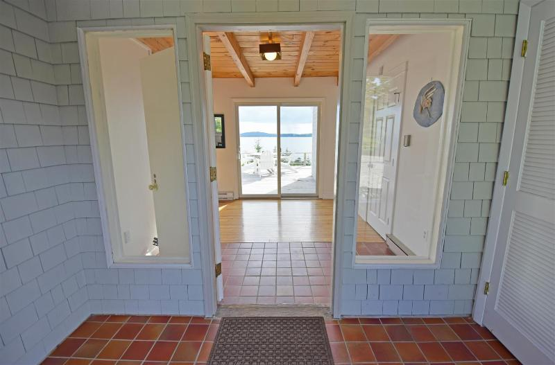 Schoodic Head and the Atlantic come into view as you walk into the foyer.
