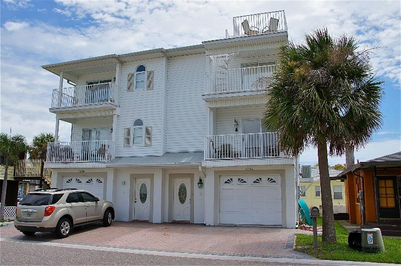 our beachy townhome is right side with roof top deck
