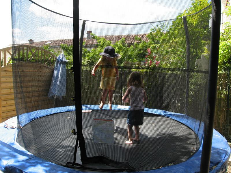 The obligatory trampoline - just outside the play barn