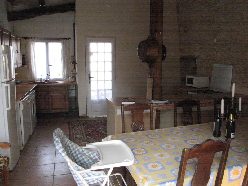 Clairette Kitchen is well equipped for one large or two small families