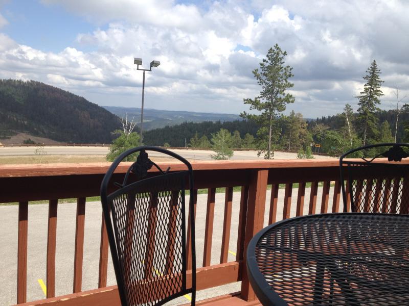 Uitzicht vanaf condominium dek