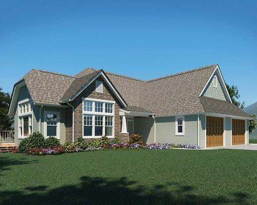 4 bedroom house with garage.