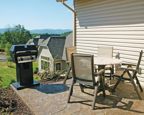 Patio with furniture and grill