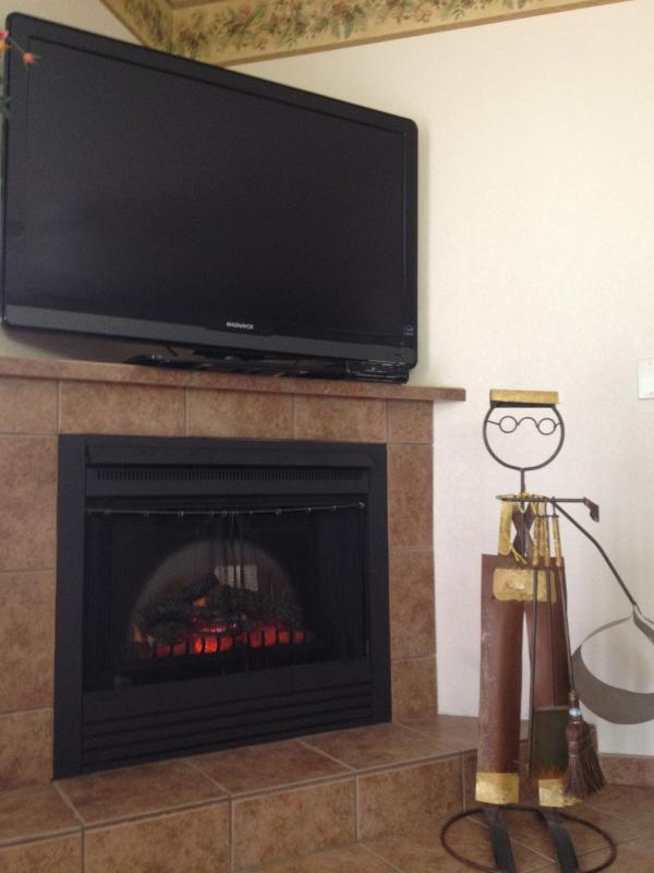Chimenea y TV
