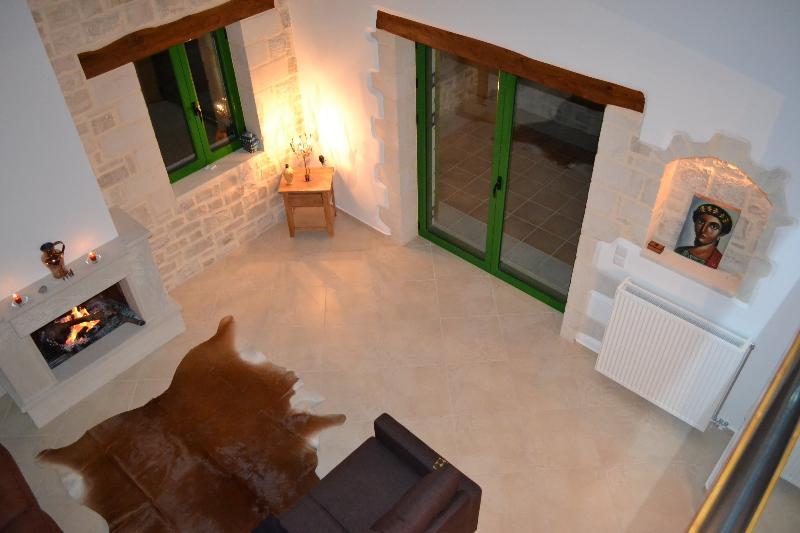 Villa Adrasteia Sitting Room from Mezzanine