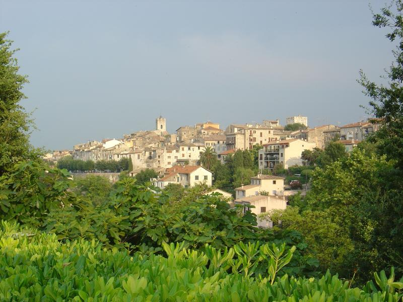 View of the Historical center of Vence from the garden