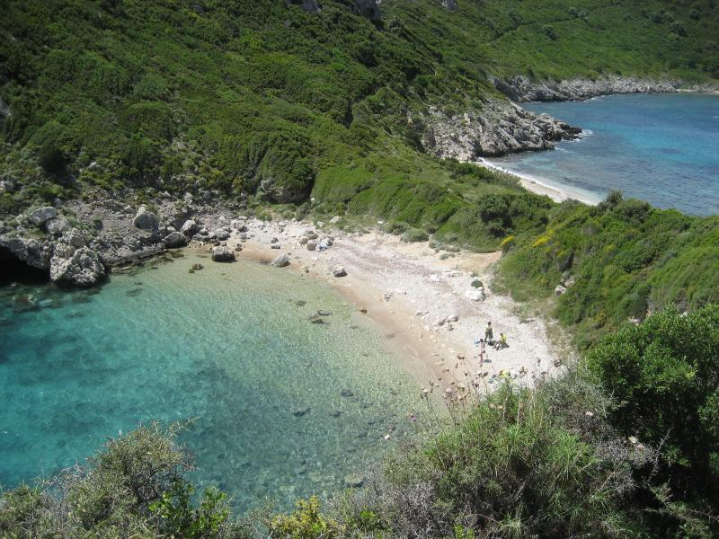 The nearby secluded beach at Porto Timoni [only reached by foot or boat]