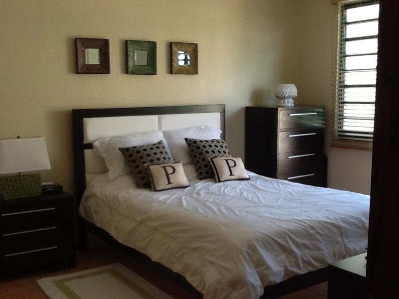 Chambre à coucher principale avec placard et balcon