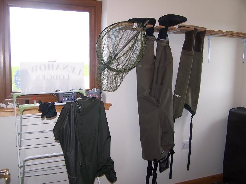 Boot room/ drying room shared by both lodges