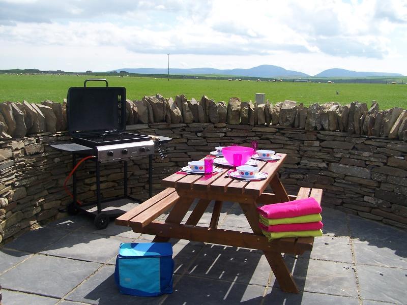 Private picnic area for No 1 Lodge