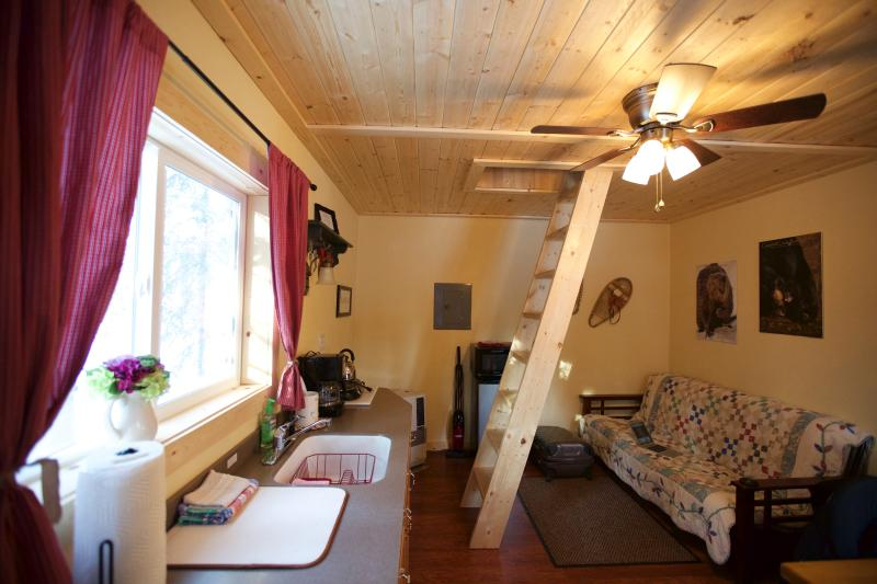 This is our Cabin Snowshoe, includes everything you need for a great and cozy vacation.