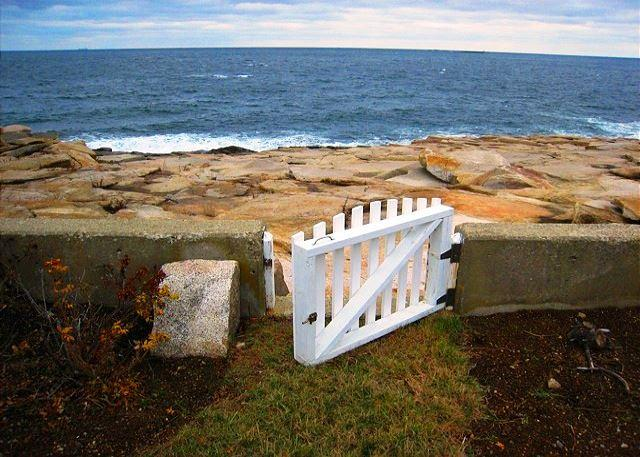 Gate to Rocks and Ocean