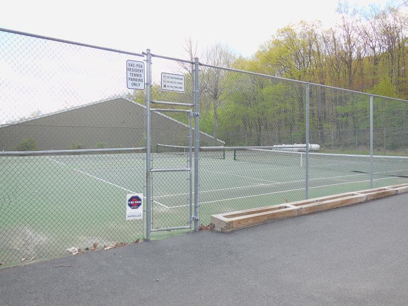 courts de tennis en plein air