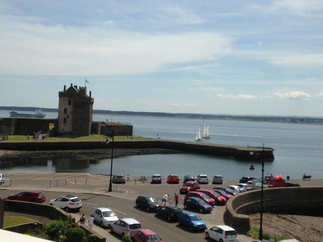 The view from the lounge towards Broughty Ferry Castle and Harbour