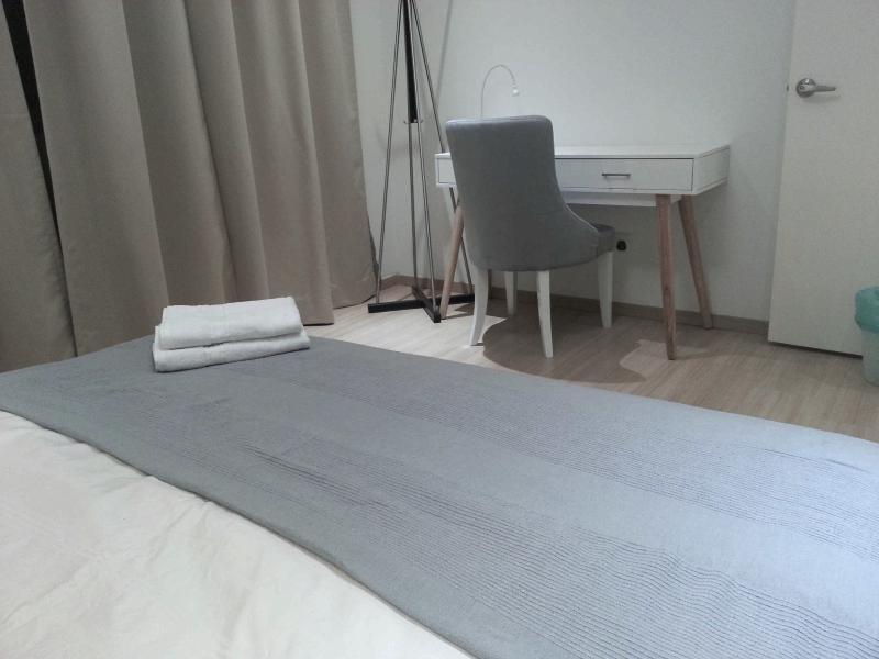 Writing desk inside bedroom suite