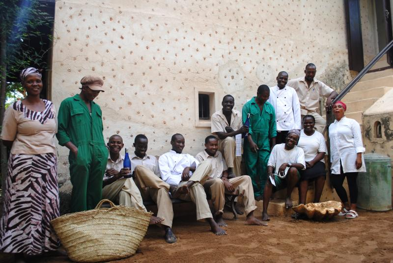 The staff at Fatuma's Tower.
