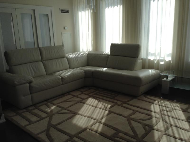 Living Room. Extra large Leather Sectional Sofa