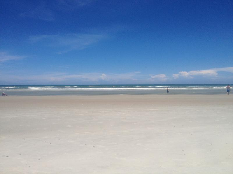 large white sandy beach, no crowds, spread out, relax and enjoy