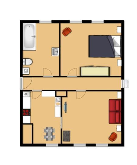 disposition de l'appartement