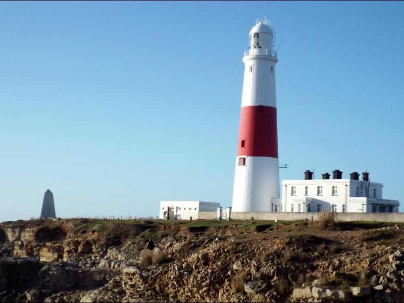 The famous Portland Bill lighthouse.