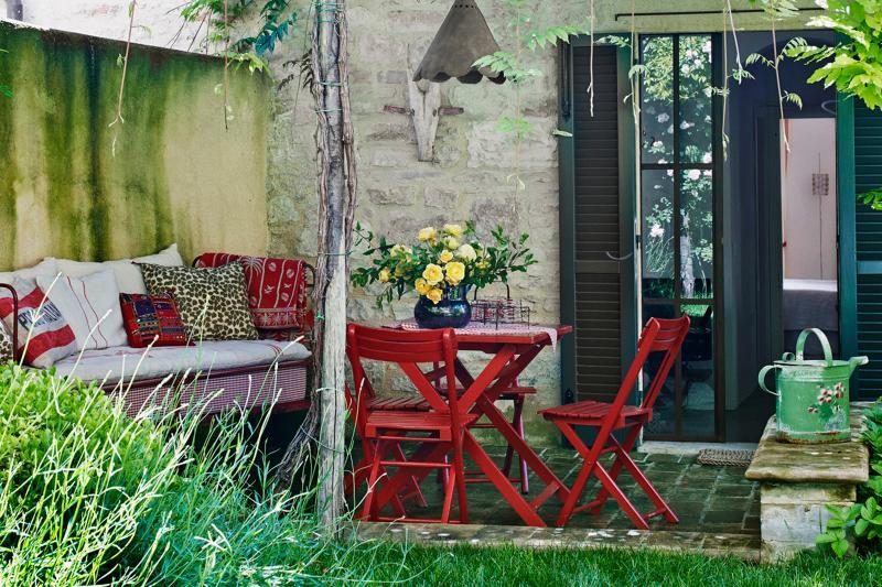 Terrasse privée et jardin