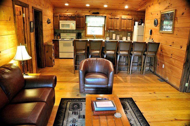 Mountain Lure - Secluded Real Log Cabin with Hot Tub, View, and Wi-Fi - A Mile a, vacation rental in Bryson City
