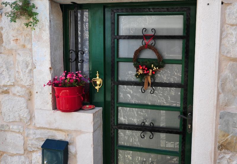 Main door.