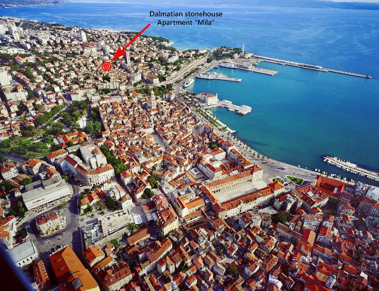 Location within the old town.