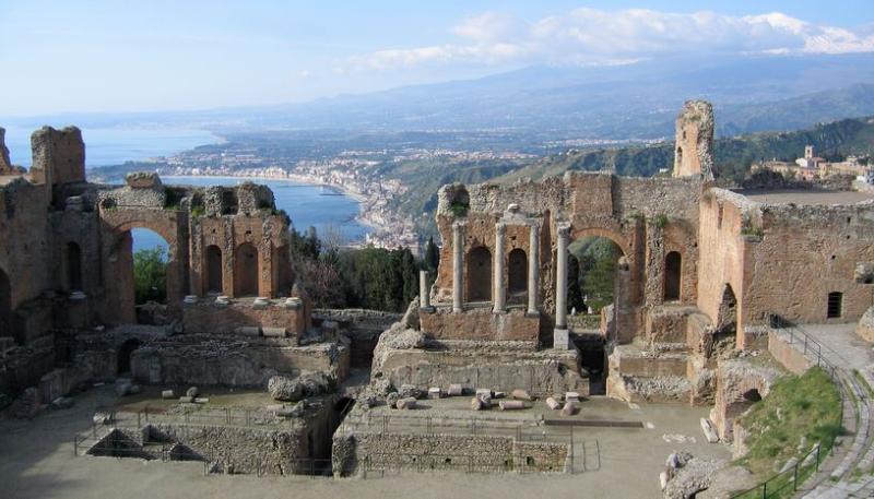 Griekse theater-Taormina
