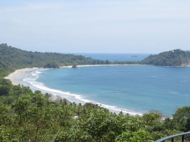 View of Manuel Antonio beach from the house
