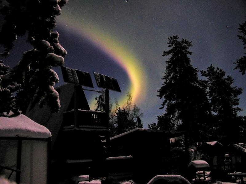 Northern Lights over Guest House