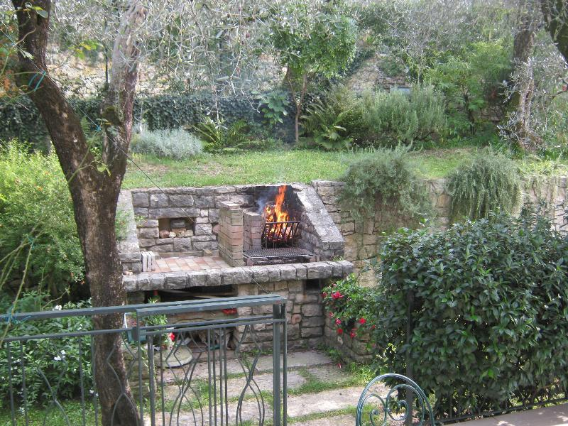 barbeque in the first terrace