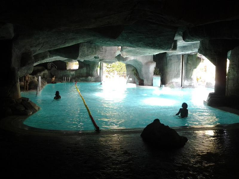 Indoor pool at private beach in Bonalba
