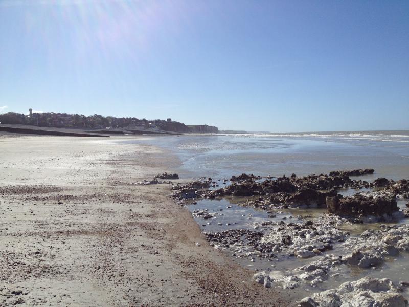 Pourville-sur-Mer beach 5 mins drive away. Pebbles at top, sand down below.