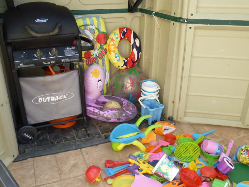 Plenty of pool and beach toys & barbecue