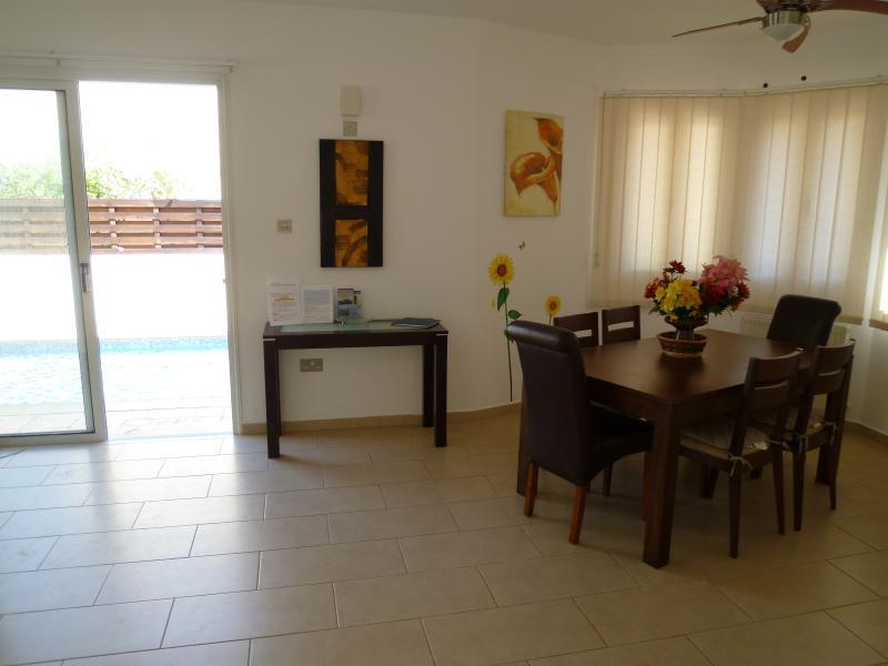 Main dining, patio doors to pool
