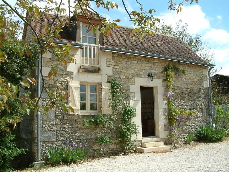 The Barn from the garden and walnut tree; the sunny and secluded patio is round the side