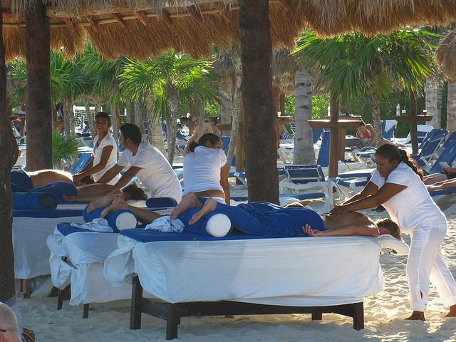 Beach massage is a treat