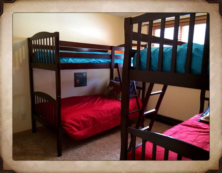 Bunk beds for kids or cousins delight.