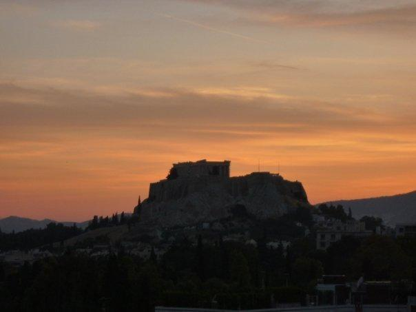 Sunset View of the Acropolis from the terrace