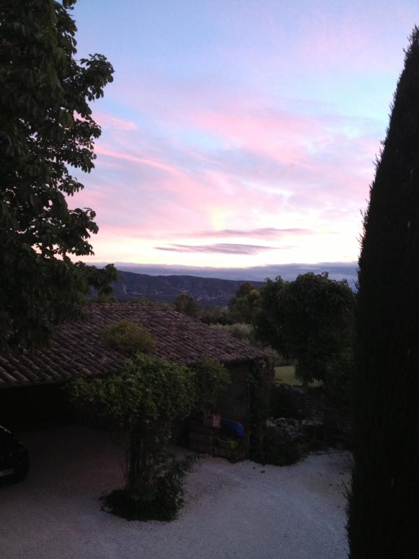 Sunset from the2nd window in the bedroom