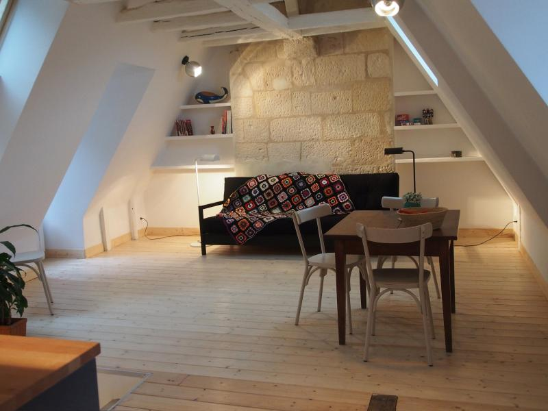 living in the attic, clear and comfortable room