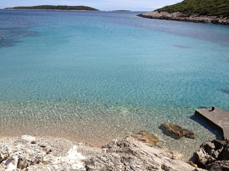 our bay...2 minutes from the house...or you can swim there from just below the house...