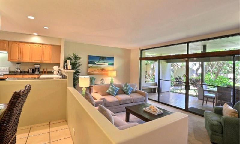 Remodeled Living Room Opening onto Spacious Lanai