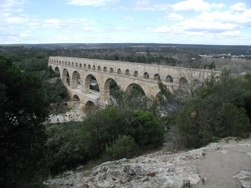 The Pont du Gard is a good day trip by car - but they don't let you walk along the top any more!