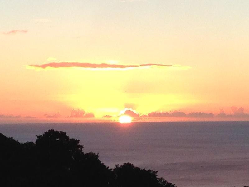 Coucher de soleil vue du balcon