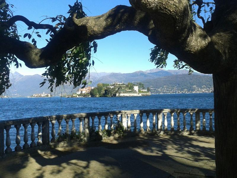 Isola bella from boulevard in stresa